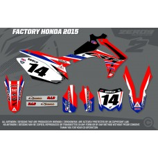 Honda Race Team Graphic Kit - Factory 15