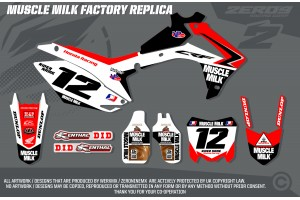 Honda Race Team Graphic Kit - Muscle Milk Factory Replica
