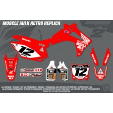Honda Race Team Graphic Kit - Muscle Milk Retro Red