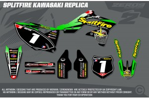 Kawasaki Retro Team Graphic Kit - Splitfire Kawasaki Green
