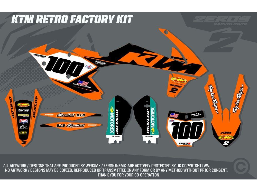 Ktm Exc F Team Graphics Kit