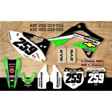 Kawasaki Retro Team Graphic Kit - Chevy Trucks KXF 012-014