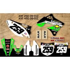 Kawasaki Retro Team Graphic Kit - Chevy Trucks KXF 09-012