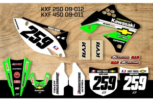Kawasaki Retro Team Graphic Kit - Chevy Trucks KXF 09-012