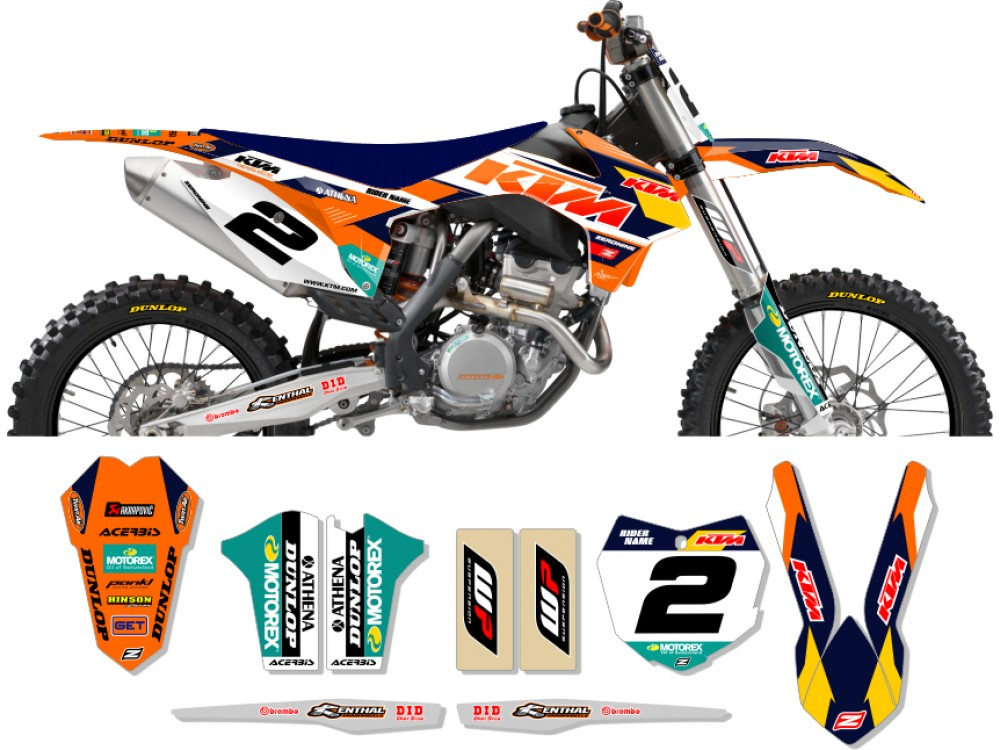 Ktm race team graphic kit 2014 factory