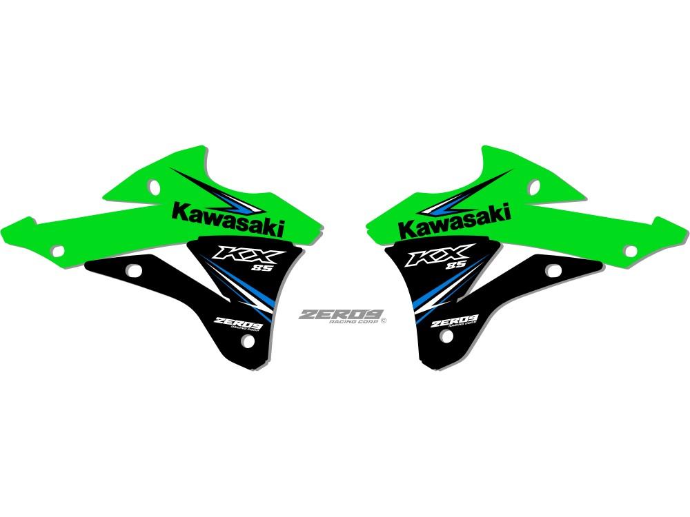 Kawasaki Oem Styled Shroud Graphics Kx 85 2014 2016