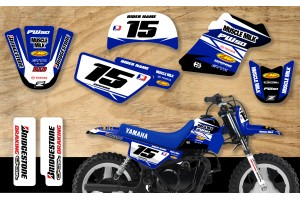 Yamaha PW50 Race Team Graphic Kit- Muscle Milk Blue/Blue