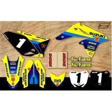 Suzuki Retro Team Motocross Graphic Kit - Bomber