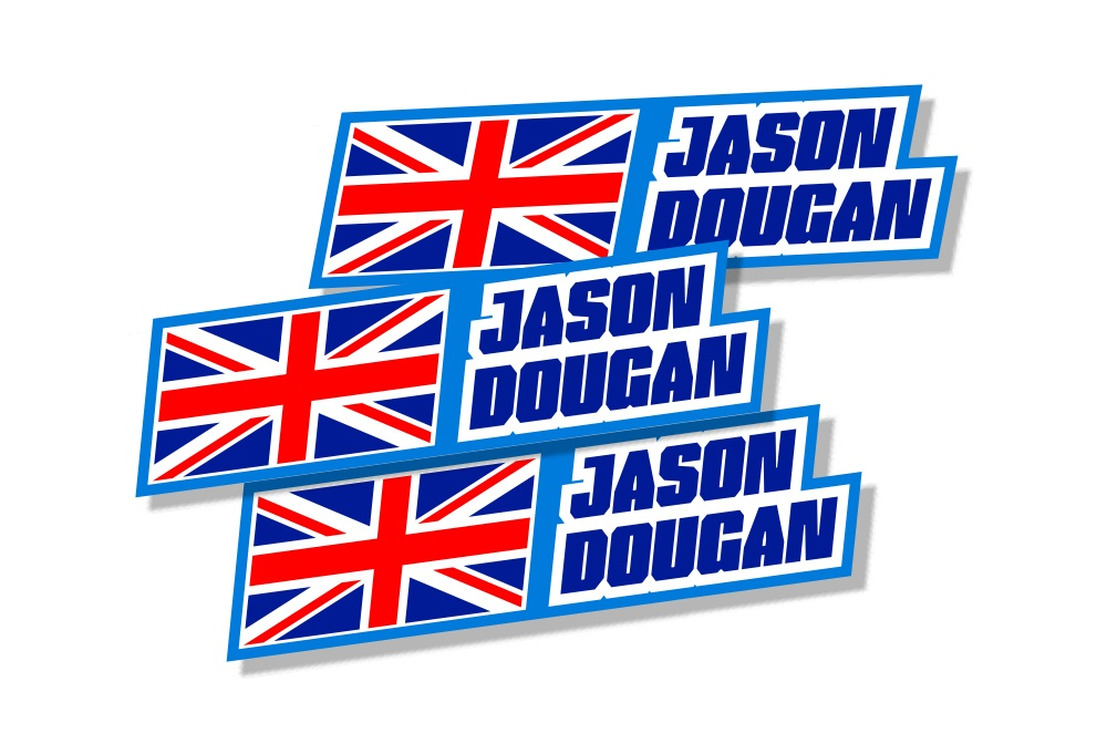 Custom name decals with flag