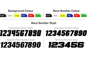 Honda Rockstar Graphic Kit  - Factory White / Red 11