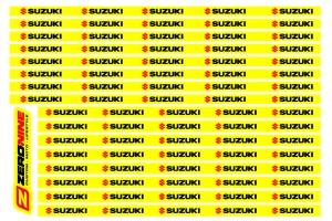 Rim Decal Set Suzuki Yellow