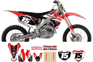 Honda Race Team Graphic Kit -Team Issue Red / Black