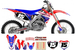Honda Race Team Graphic Kit -Team Issue Red / Blue