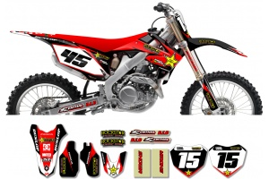 Honda Rockstar Graphic Kit  - Factory Black / Red 11
