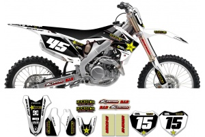Honda Rockstar Graphic Kit  - Factory White / Black 11