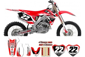 Honda Zeronine Graphic Kit - Targa2 Red / White
