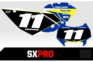 Husaberg Custom Printed Motocross Backgrounds - SXPRO Series