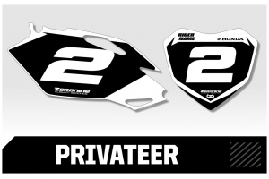 Husqvarna Custom Printed Motocross Backgrounds - Privateer  Series
