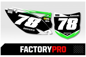 Kawasaki Custom Printed Motocross Backgrounds - Factory Pro Series