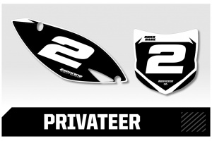 Kawasaki Custom Printed Motocross Backgrounds - Privateer  Series