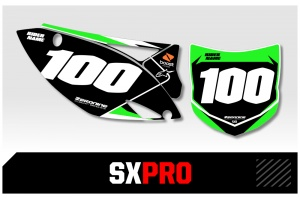 Kawasaki Custom Printed Motocross Backgrounds - SXPRO Series