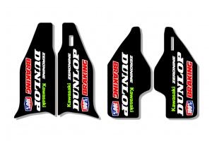 Kawasaki Lower Fork Decal - Core Black