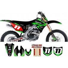 Kawasaki Zeronine Graphic Kit - Targa2 Black / Green