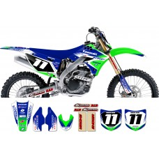 Kawasaki Zeronine Graphic Kit - Targa2 Green / Blue