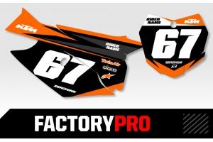 KTM Custom Printed Motocross Backgrounds - Factory Pro Series