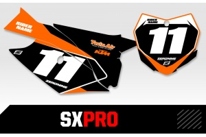 KTM Custom Printed Motocross Backgrounds - SXPRO Series