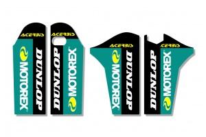 KTM Lower Fork Decal - Core - Black / Teal