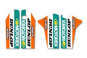 KTM Lower Fork Decal - Core - Orange / Teal