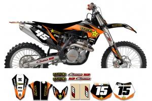 KTM Rockstar Graphic Kit  - Factory Black Orange 11