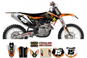 KTM Rockstar Graphic Kit  - Factory Orange Black 11