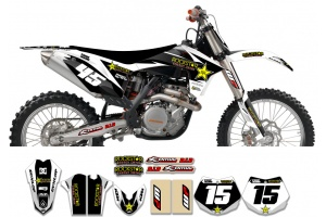 KTM Rockstar Graphic Kit  - Factory White / Black 11