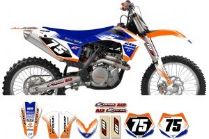 KTM Zeronine Graphic Kit - Targa2 Orange / Blue