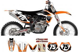 KTM Zeronine Graphic Kit - Targa2 Orange / White