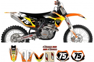 KTM Zeronine Graphic Kit - Targa2 Orange / Yellow