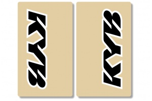 KYB Clear Upper Fork Decals Black / White