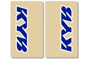 KYB Clear Upper Fork Decals Blue / White