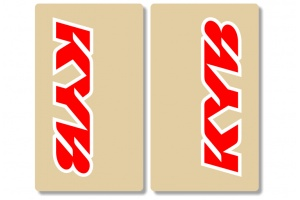 KYB Clear Upper Fork Decals Red / White