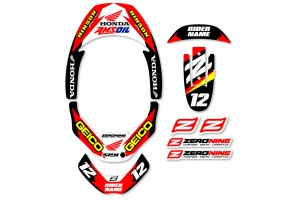 Leatt Neck Brace Graphics - Factory Issue  Honda