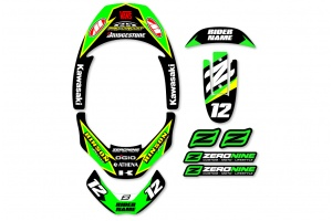 Leatt Neck Brace Graphics - Factory Issue Kawasaki