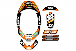 Leatt Neck Brace Graphics - Factory Issue KTM