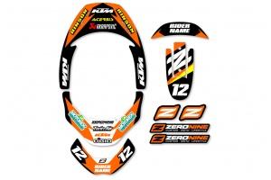 Leatt Neck Brace Graphics - Factory Issue KTM