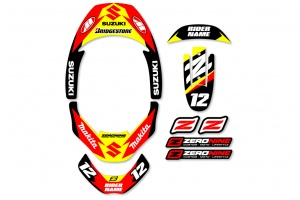 Leatt Neck Brace Graphics - Factory Issue Suzuki