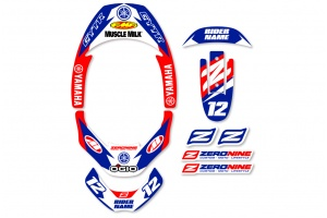 Leatt Neck Brace Graphics - Factory Issue Yamaha
