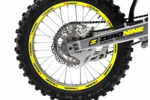 Rim Decal Set Suzuki Yellow