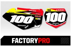 Suzuki Custom Printed Motocross Backgrounds - Factory Pro Series
