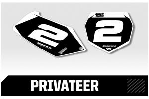 Suzuki Custom Printed Motocross Backgrounds - Privateer  Series